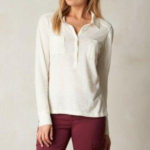 LIKE NEW ✨ Prana Ivory Besha Long Sleeve Shirt
